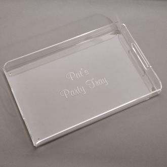 Acrylic Handled Tray 16.5