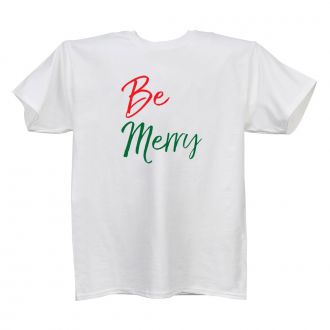 Be Merry - Ladies' White T - LARGE