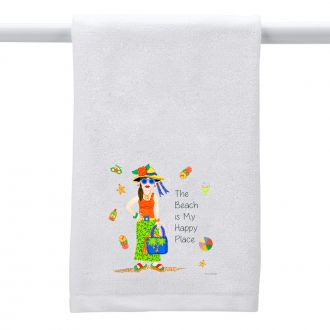 Beach . . .Happy Place - Hand Towel