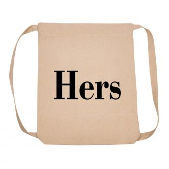 Hers (in block letters) - Back Pack