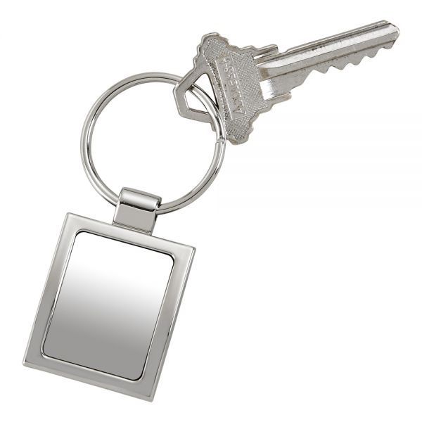 POLISHED FINISH RECTANGULAR KEY CHAIN