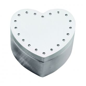 HEART BOX WITH CRYSTALS IN LID