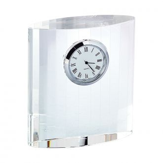 OPTIC CRYSTAL CLOCK, 3.75