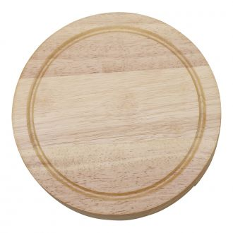 ROUND SWIVELING CHEESEBOARD WITH 4 METAL UTENSILS INSIDE