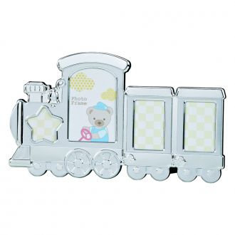 TRAIN DESIGN PHOTO FRAME, HOLDS MULTIPLE PHOTOS
