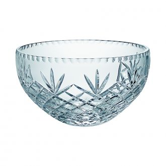 LEAD CRYSTAL SALAD BOWL WITH MEDALLION PATTERN, 10