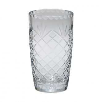 OPTIC CRYSTAL VASE WITH MEDALLION ll PATTERN