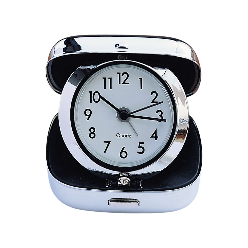 square folding travel alarm clock. Black Bedroom Furniture Sets. Home Design Ideas