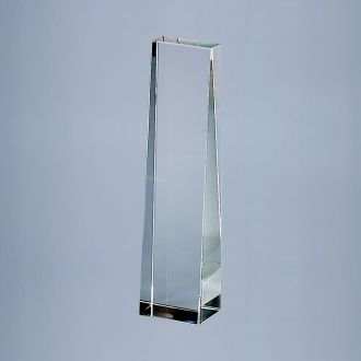 OPTIC CRYSTAL OBELISK, 8.75