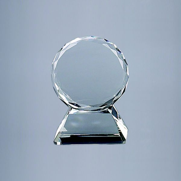 Round Glass Trophy
