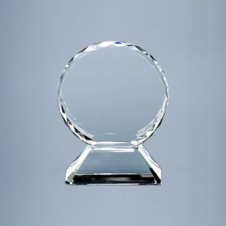 OPTIC CRYSTAL TROPHY ON BASE, 5.75