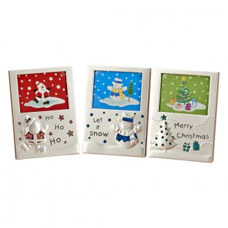 SET OF 3 HOLIDAY MINI-FRAMES OR ORNAMENTS