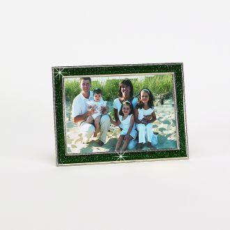 GLITTER GALORE GREEN FRAME HOLDS 4