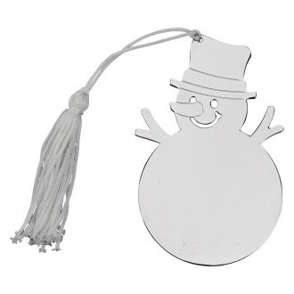 SNOWMAN ORNAMENT W/WHITE TASSEL