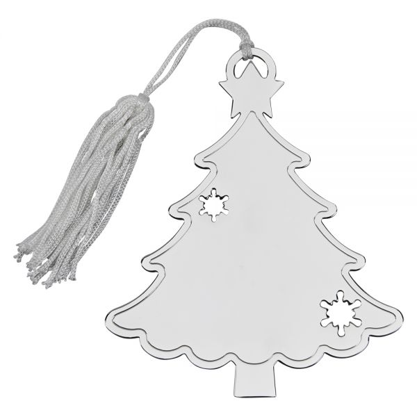 HOLIDAY TREE SHAPED ORNAMENT WITH SNOWFLAKE CUTOUTS