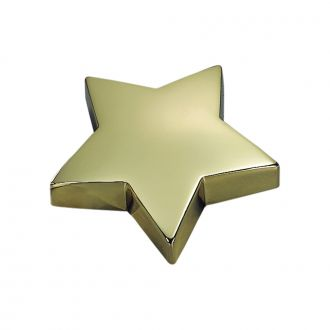 STAR SHAPED PAPERWEIGHT IN BRASSPLATE