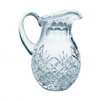 LEAD CRYSTAL PITCHER WITH MEDALLION PATTERN