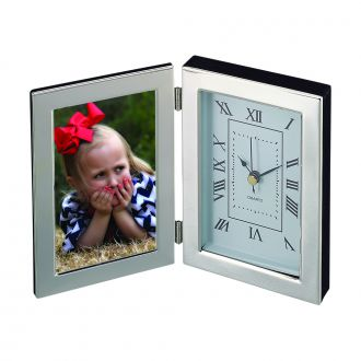SILHOUETTE STYLE HINGED CLOCK & FRAME