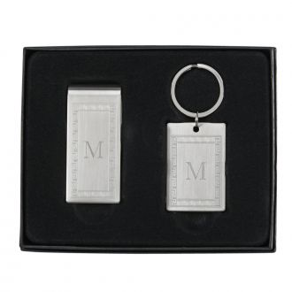 GREEK KEY MONEY CLIP & KEY CHAIN SET
