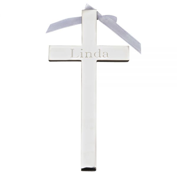 CROSS WITH WHITE RIBBON
