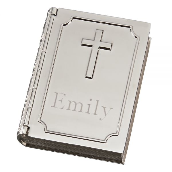 BOOK SHAPED BOX WITH CROSS ON COVER