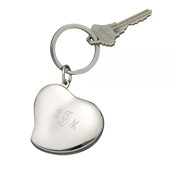 HEART SHAPED LOCKET KEY CHAIN
