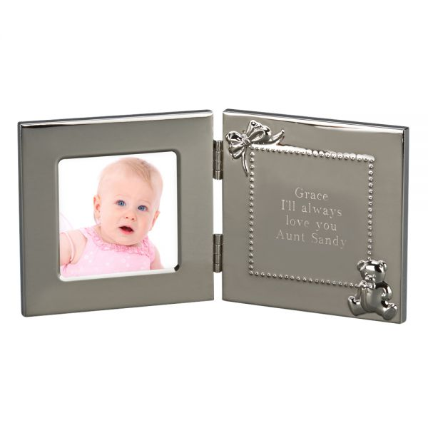 HINGED BABY FRAME & ENGRAVING MESSAGE