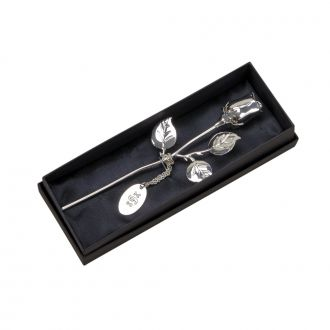 SILVERPLATED ROSE, 7.5