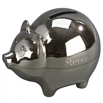 LARGE PIGGY BANK WITH POLISHED FINISH