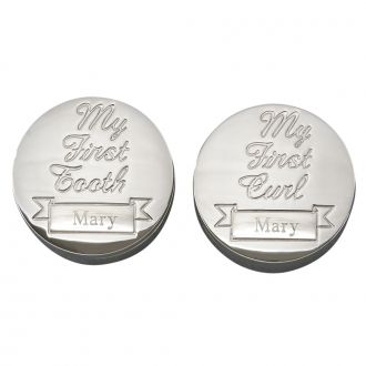 SET OF ROUND BOXES FOR 1ST TOOTH & 1ST CURL