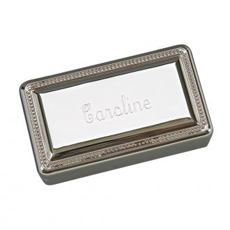 RECTANGULAR BOX WITH BEADED BORDER ON LID, 5