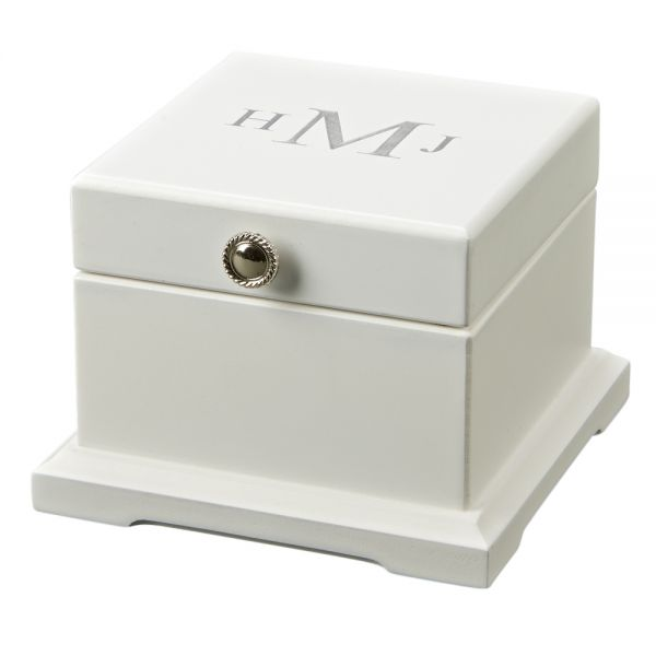 Blanca White Jewelry Box