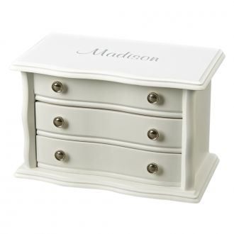 BLANCA WHITE WOOD BOX WITH 3 COMPARTMENTS