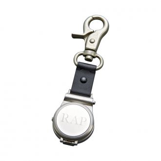 CLIP ON WATCH WITH HINGED COVER AND STRAP