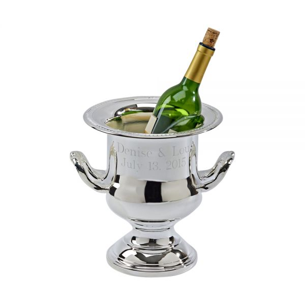 SILVERPLATED WINE COOLER WITH GADROON BORDER DESIGN