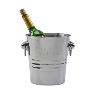 POLISHED FINISH WINE COOLER WITH RING STYLE HANDLES