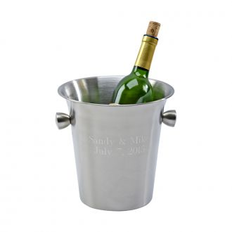 MATTE FINISH WINE COOLER WITH KNOB STYLE HANLDES