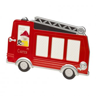 RED FIRE TRUCK DESIGN FRAME, HOLDS MULTIPLE PHOTOS