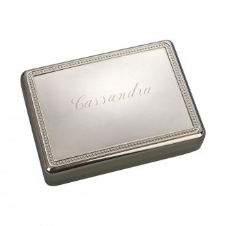 RECTANGULAR BOX WITH BEADED BORDER ON LID, 5.25