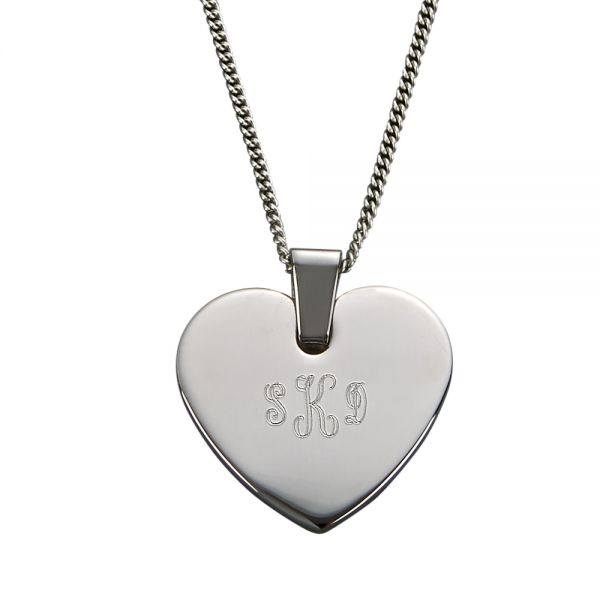 HEART SHAPED PENDANT & NECKLACE