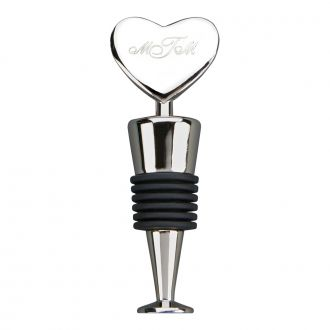 HEART SHAPED BOTTLE STOPPER WITH FLAT BOTTOM