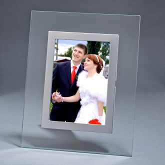 CLEAR GLASS FRAME, HOLDS 4