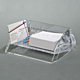 CLEARYLIC DESK CADDY WITH 3 COMPARTMENTS