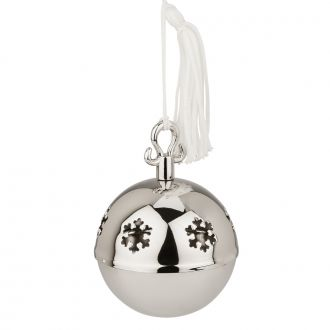 Jingle Bell Ornament with White Tassel, 2.25