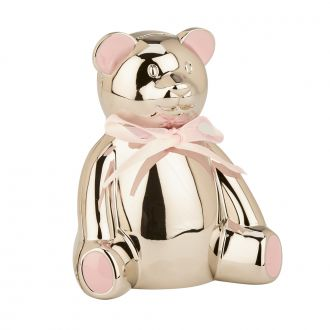 Teddy Bear Bank with Pink Highlights, 4
