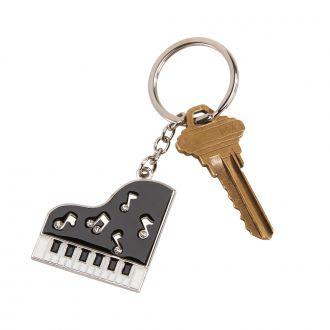 Piano key chain w/Crystals, 3.5