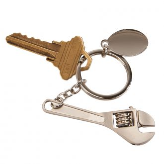 Wrench Key chain w/Oval Engraving Plate 4.5