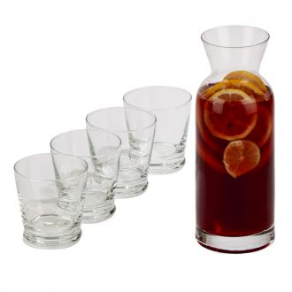 5 Piece Carafe Set, Includes 10