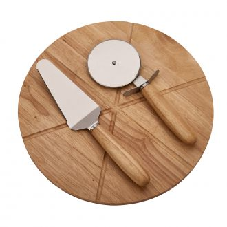 Pizza Board with 2 Utensils, 14