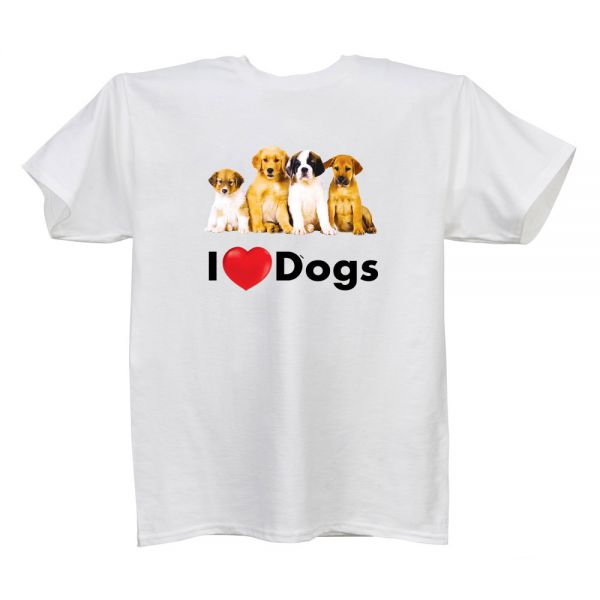 I Love (Heart) Dogs White T